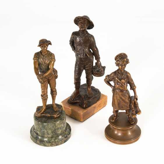 3 Bronze-Statuetten. - Foto 1