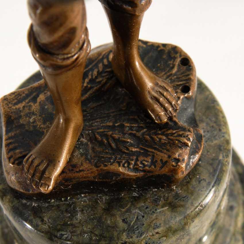 3 Bronze-Statuetten. - Foto 4