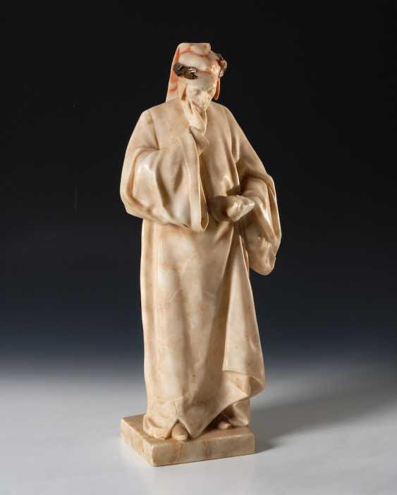 GORY, Affortunato: Alabasterfigur Dante - photo 1