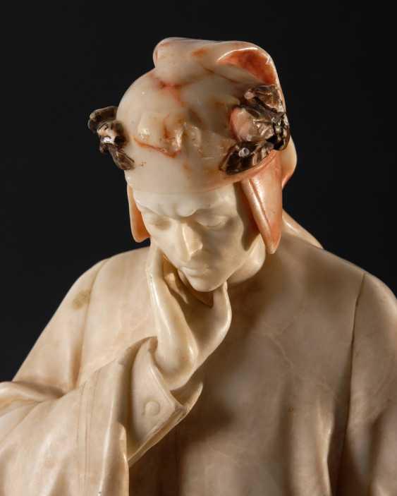 GORY, Affortunato: Alabasterfigur Dante - photo 2
