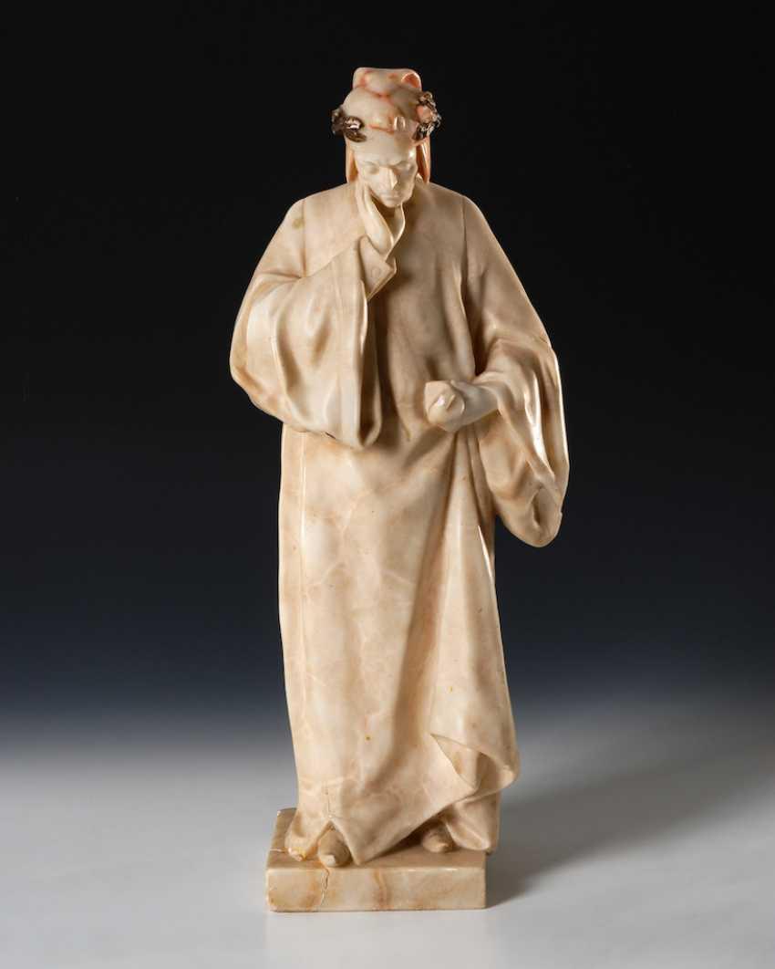 GORY, Affortunato: Alabasterfigur Dante - photo 3