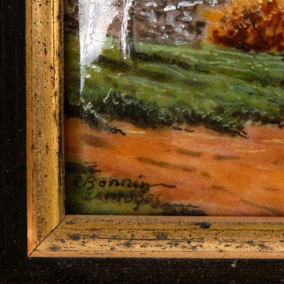 Enamel painting of LIMOGES: the village landscape. - photo 3