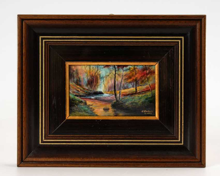 Enamel painting of LIMOGES: the forest landscape. - photo 2