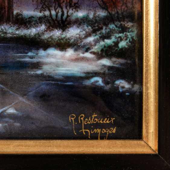 Large enamel painting of LIMOGES: Village - photo 3