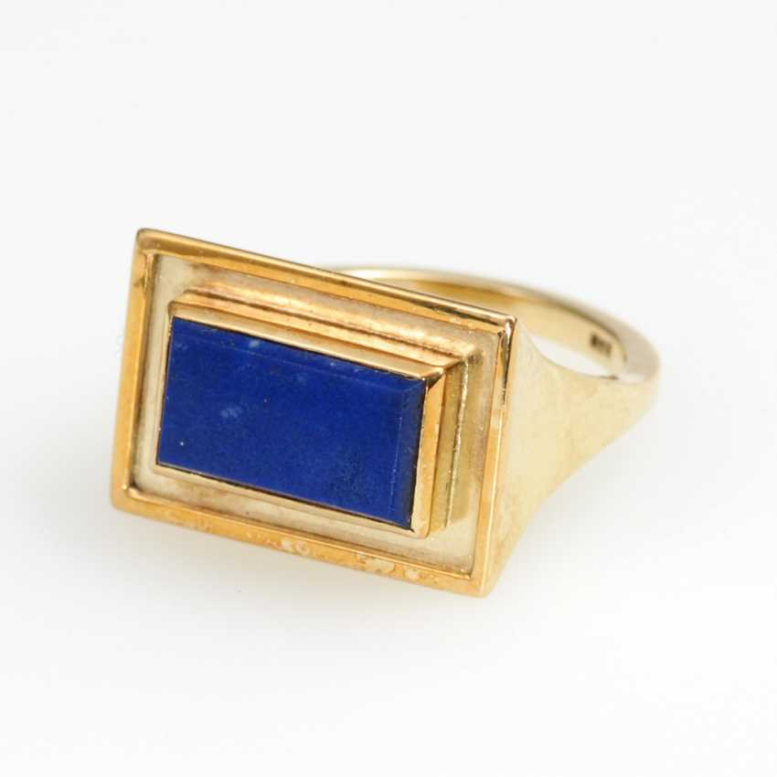 Classic Ring with lapis lazuli. - photo 1