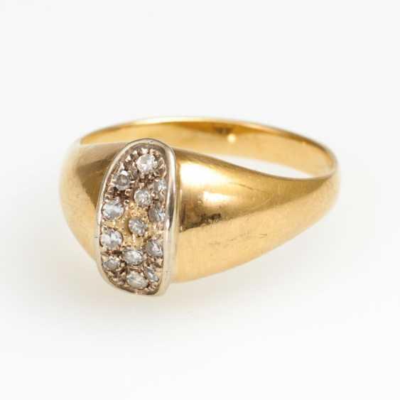 Ring with diamonds. - photo 1