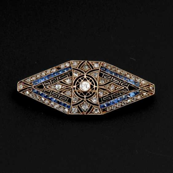 Art-Deco brooch with old European cut-Brilliant - photo 1