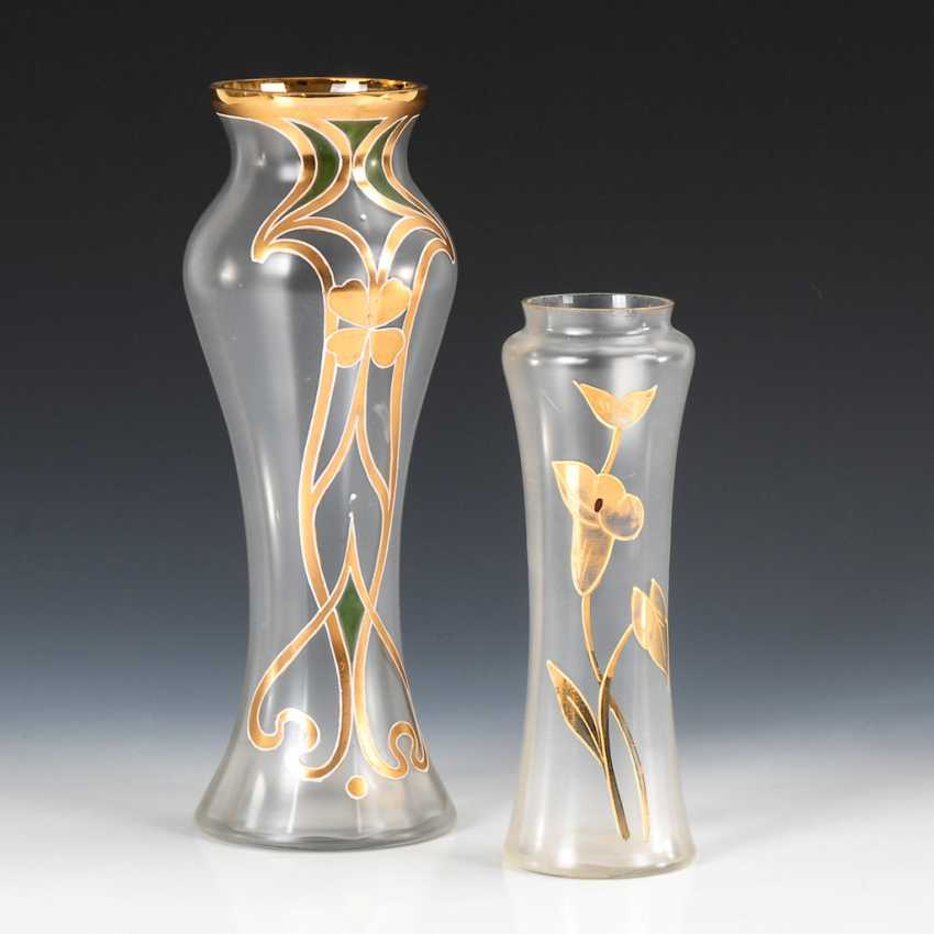 2 art Nouveau vases with gold painting. - photo 1