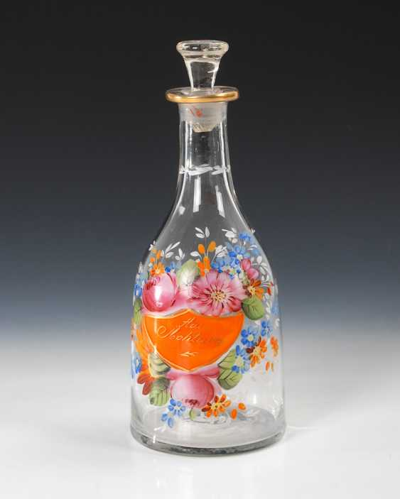 Decanter with enamel painting. - photo 1