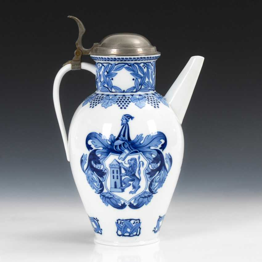 Cover pot with blue painting, MEISSEN. - photo 2