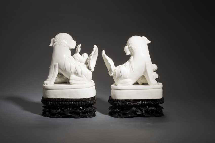 COUPLE OF PALACE OF THE LIONS ON PEDESTALS - photo 2