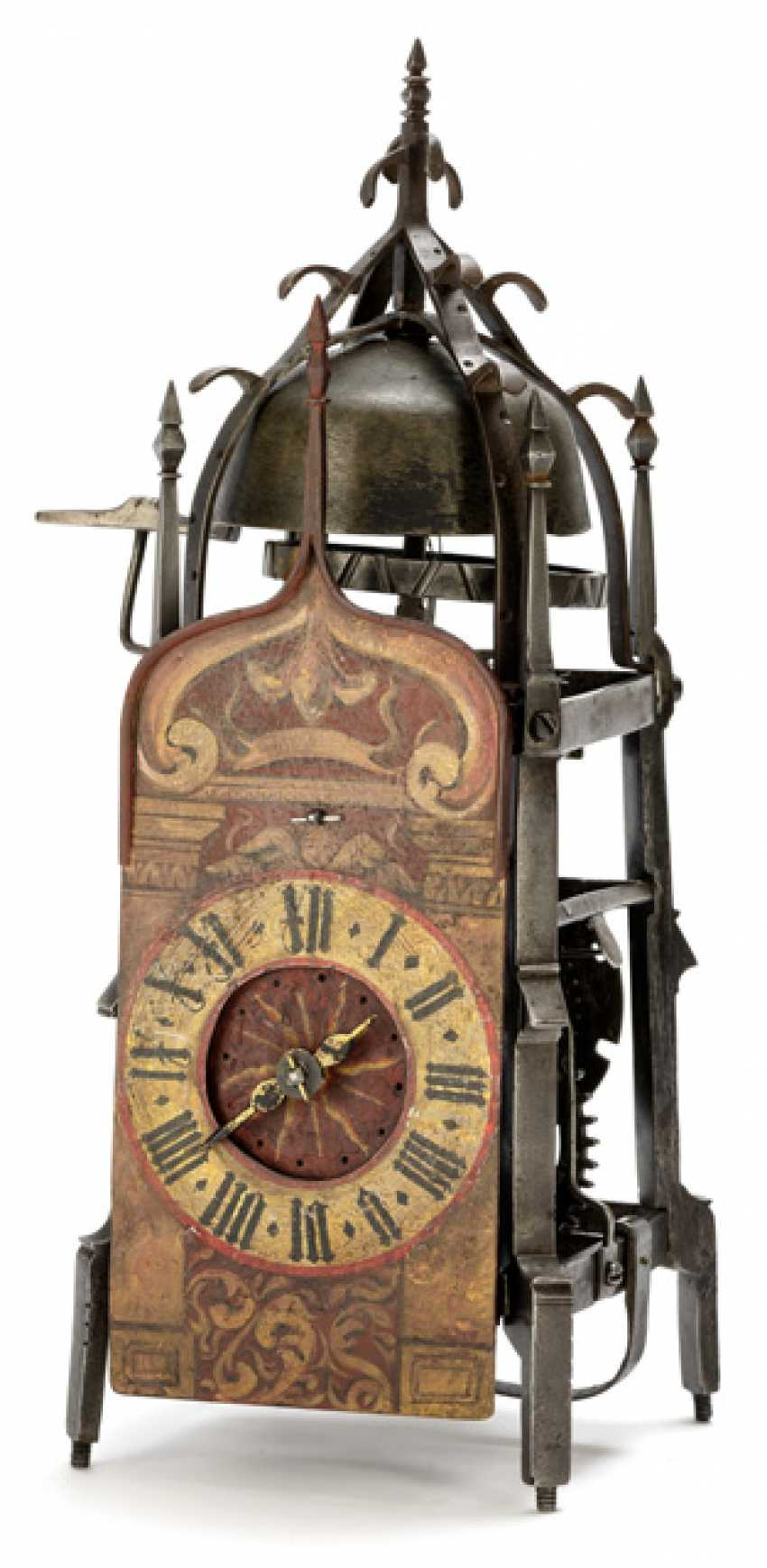 Gothic Iron Wheel Clock. Probably South German, 16. Century - photo 1