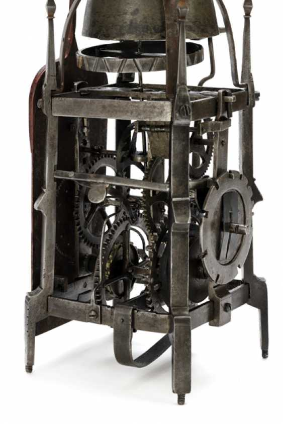 Gothic Iron Wheel Clock. Probably South German, 16. Century - photo 3