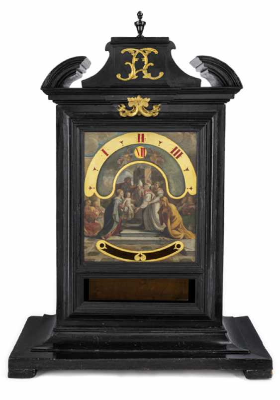 Exceptional night clock in ebonised case. Name Gio Antoninj, Rome, 18. Century - photo 1