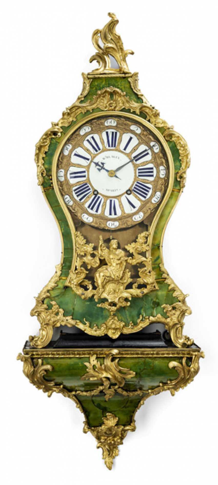 "Pomp pendule ""en corne verte"". Name Blakey A Paris, France, 18. Century - photo 1"