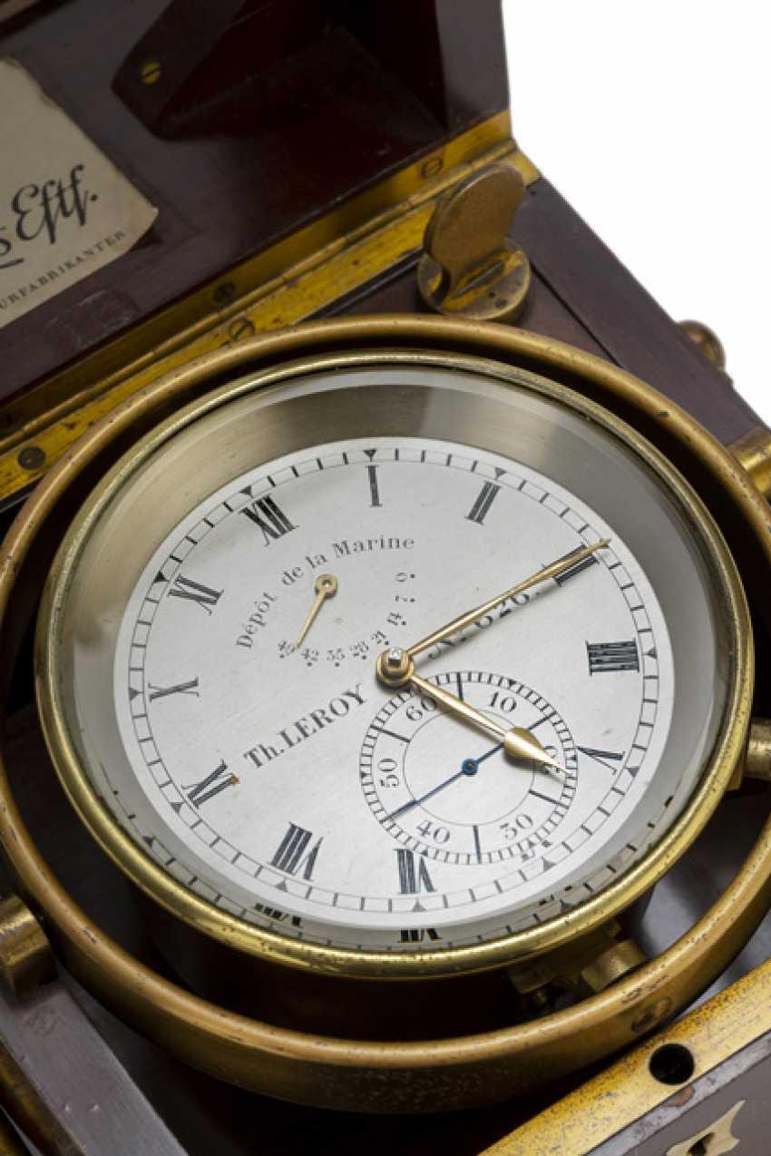 The Marine Chronometer. Name Th.LEROY No. 626., France, around 1900 - photo 3