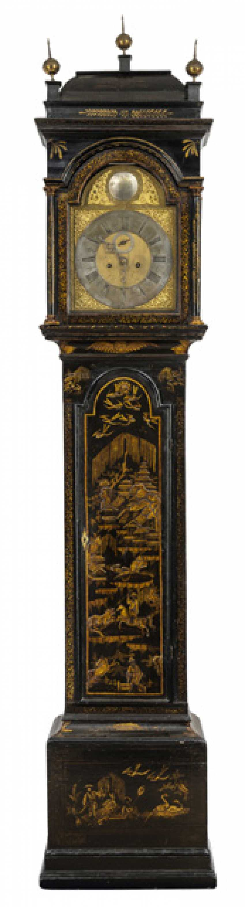 Floor grandfather clock. Chinoiser style, England, around 1800 - photo 1
