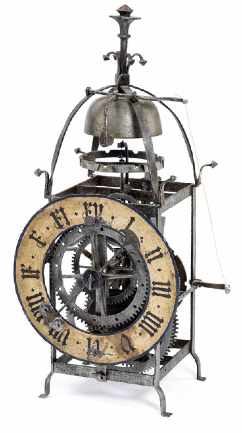 Gothic Iron Wheel Clock. Alpine, 16. Century - photo 1