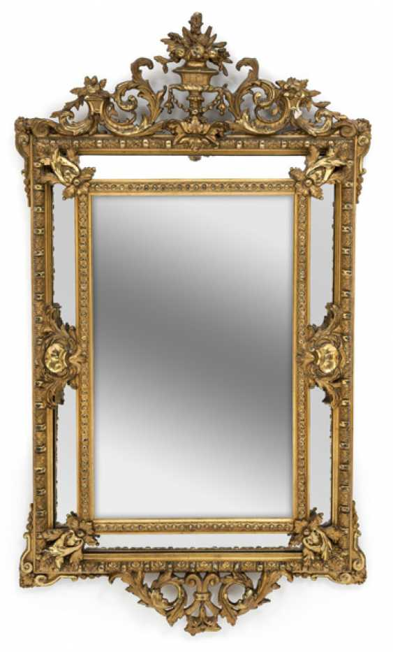 A Large Wall Mirror. Baroque Style, 19th Century. Century - photo 1