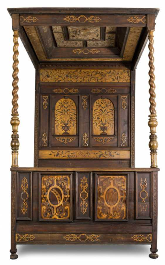 Large Four-Poster Bed. Early Baroque-Style, 19. Century - photo 1