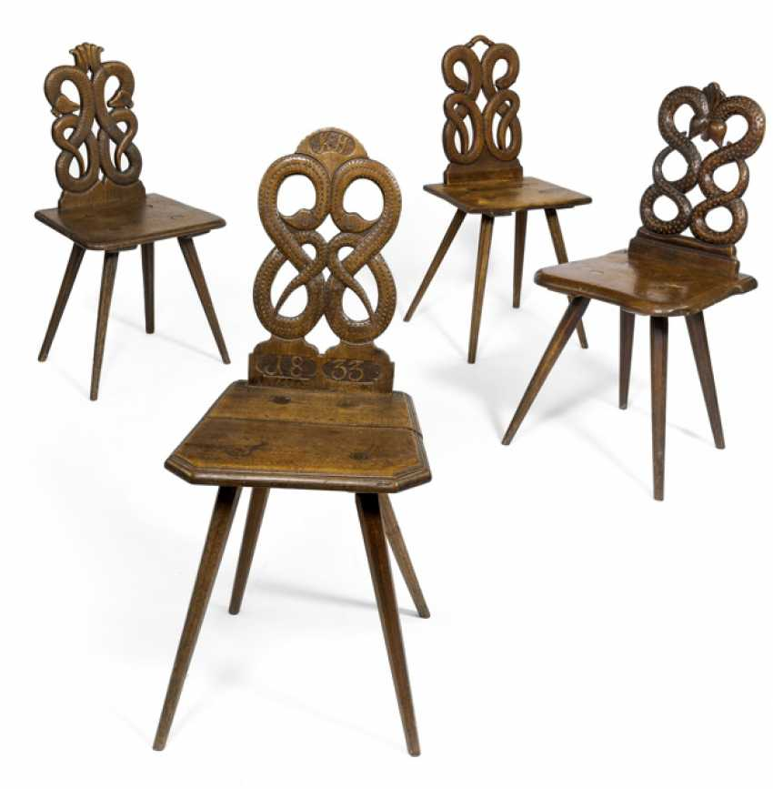 Four Board Chairs. 18./19. Century - photo 1