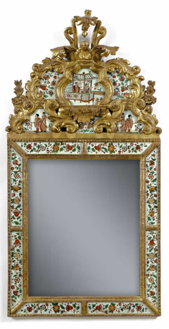 Exceptional Baroque Cabinet Mirror. Sweden, probably the workshop of the brothers Christian and Gustaf Precht, 1725 - photo 1