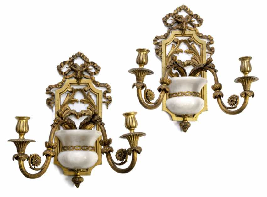 Two Wall Sconces. Neo-classical style, around 1900 - photo 1