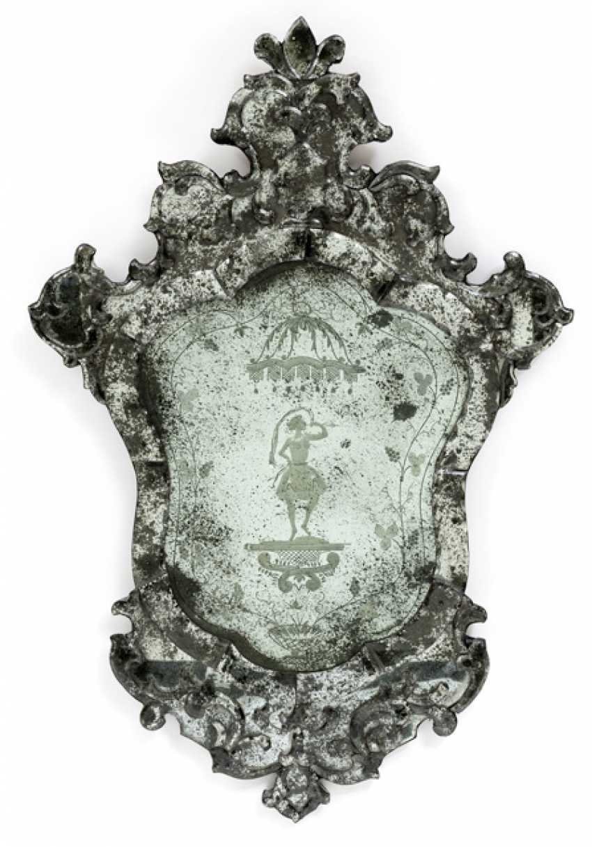 Pair of Venetian decorative mirror. The Rococo Style, Italy, 19th Century. Century - photo 1