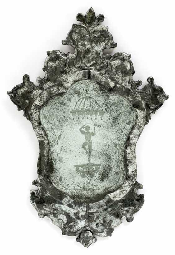 Pair of Venetian decorative mirror. The Rococo Style, Italy, 19th Century. Century - photo 2