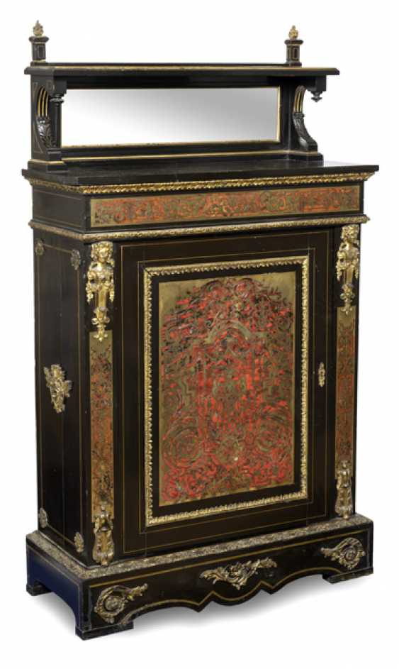 Opulent sideboard with mirror top. The Boulle Style, France, 19th Century. Century - photo 1