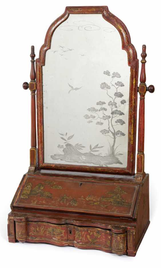 Fine make-up mirror in the chinoisen style. Italy, 18. Century - photo 1