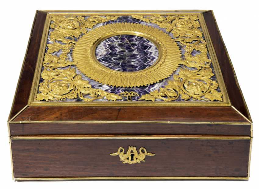 Magnificent Empire Zierschatulle with Amethyst. France, 19. Century - photo 1