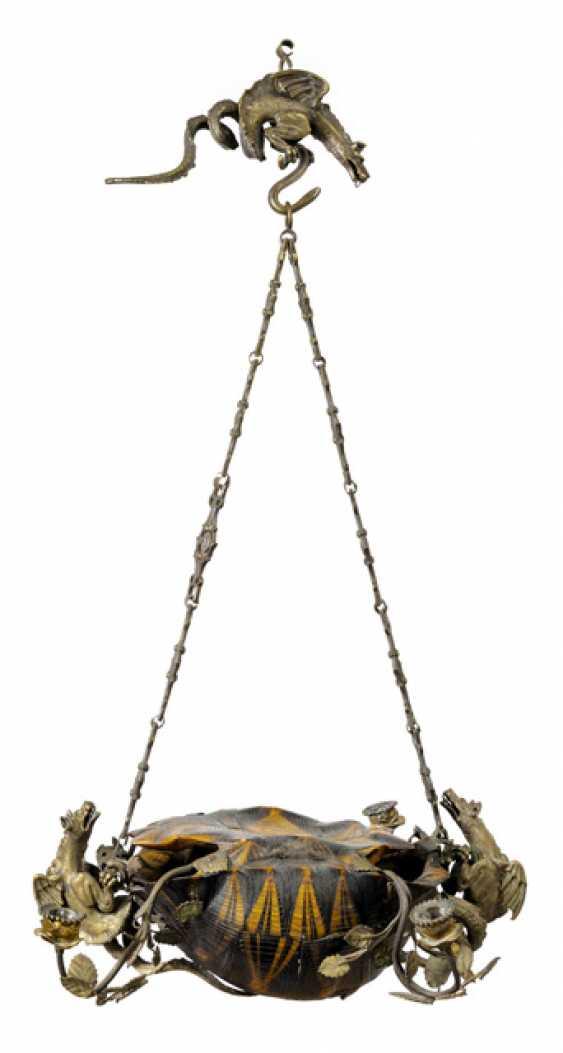 Aussergewöhnliche Deckenlampe. Wohl Italien, 19. Jahrhundert - Foto 1