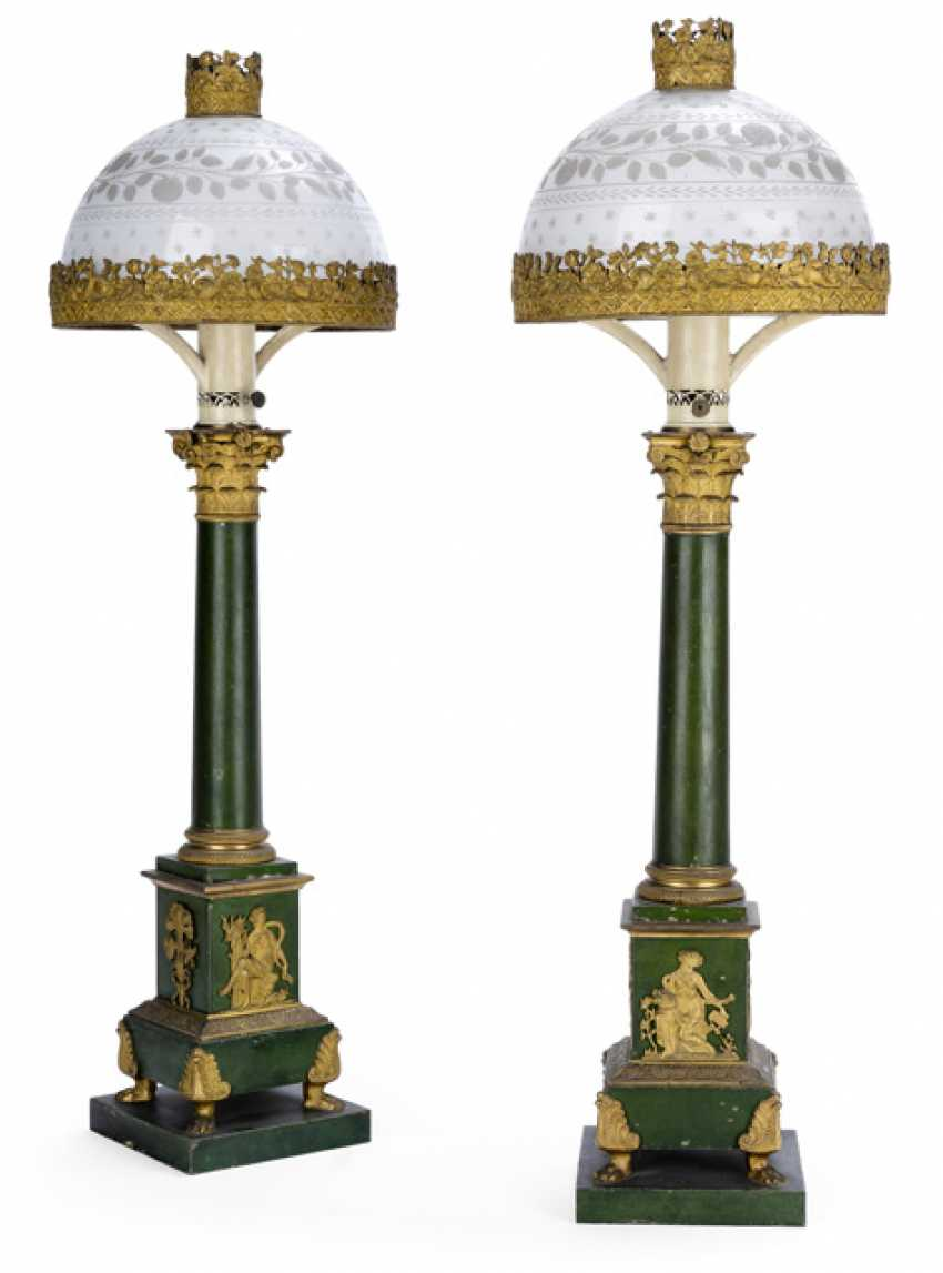 Pair of fine Empire oil Lamps. France, around 1810/20 - photo 1