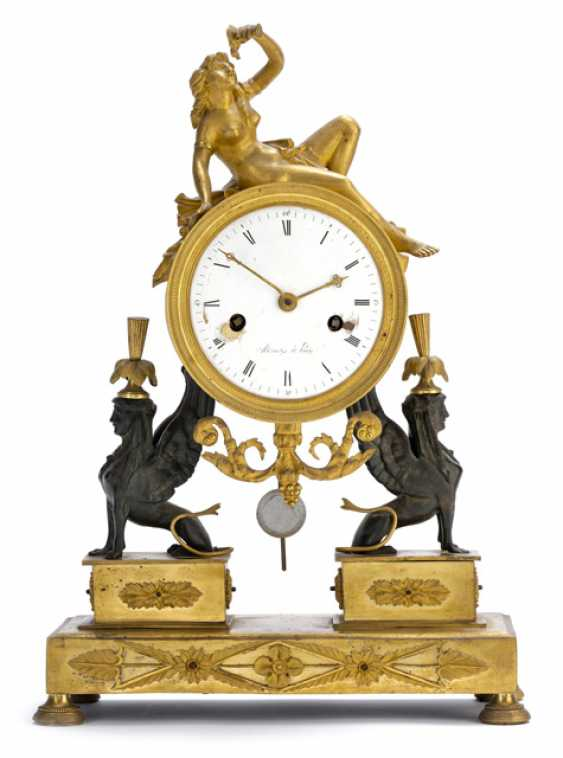 Empire Pendule with sphinxes. Name Minet A Paris, France, around 1810 - photo 1