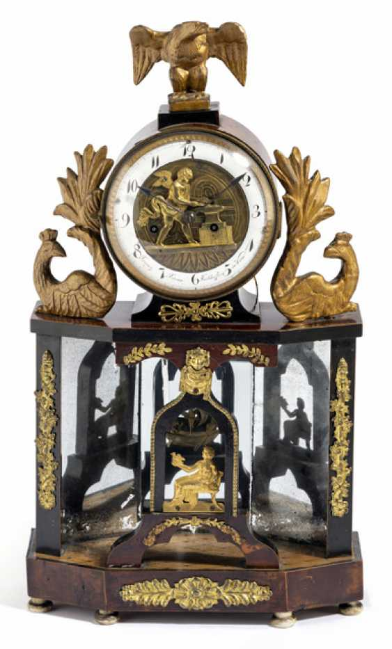 Biedermeier Portaluhr with figure automaton. On the dial, Franz Xaver referred to Hofer in Vienna, around 1810 - photo 1