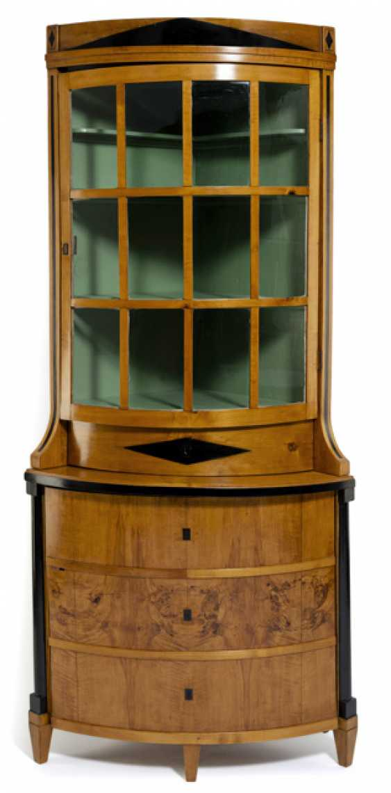Biedermeier Eckaufsatz Showcase. Middle English, C. 1825 - photo 1