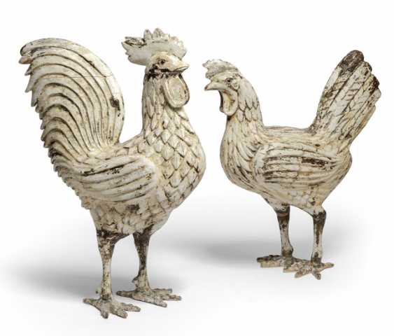 Hen and rooster. Naples, 19. Century - photo 1
