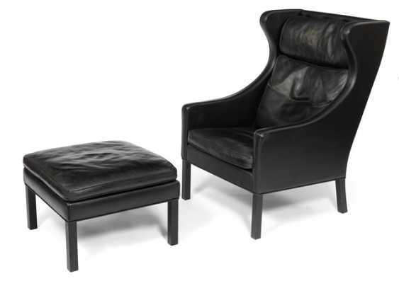 2204 Wingchair und Ottomane. Borge Mogensen für Frederica Furniture, Dänemark, 1980/90er Jahre - Foto 1