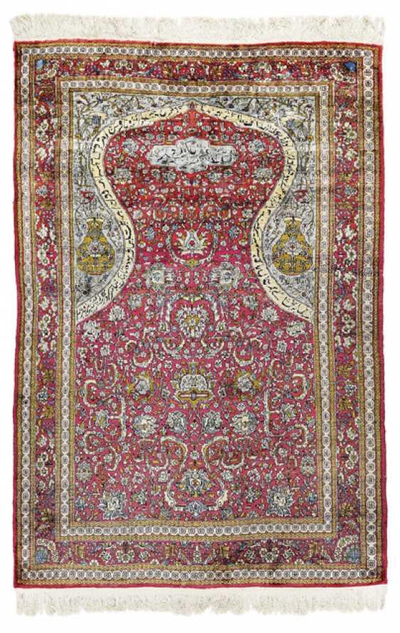 Silk Prayer Rug. 2. Third 20. Century - photo 1