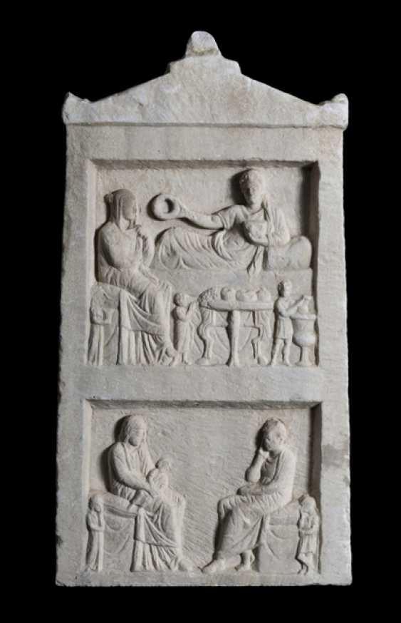 Ancient Funerary Stele. Roman Empire, probably the Western black sea coast, 2. Century ad - photo 1