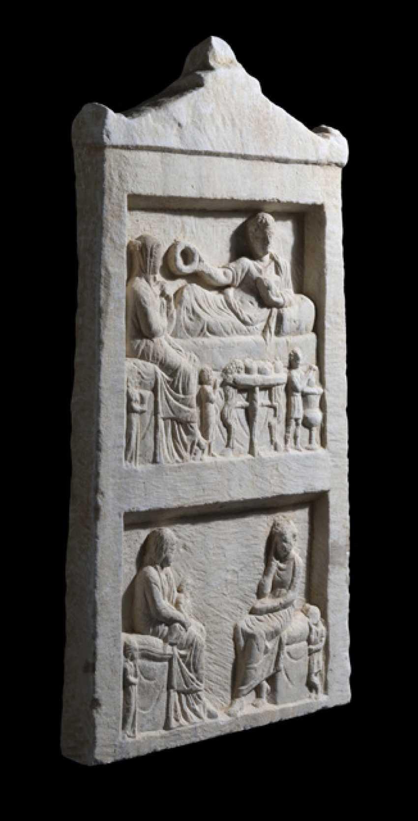 Ancient Funerary Stele. Roman Empire, probably the Western black sea coast, 2. Century ad - photo 2