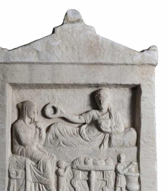 Ancient Funerary Stele. Roman Empire, probably the Western black sea coast, 2. Century ad - photo 3