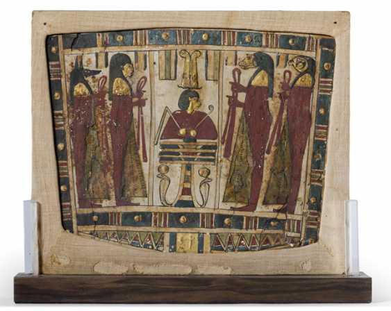 Egyptian Sarcophagus Painting. Saitisch, 7.-6. Century BC - photo 1