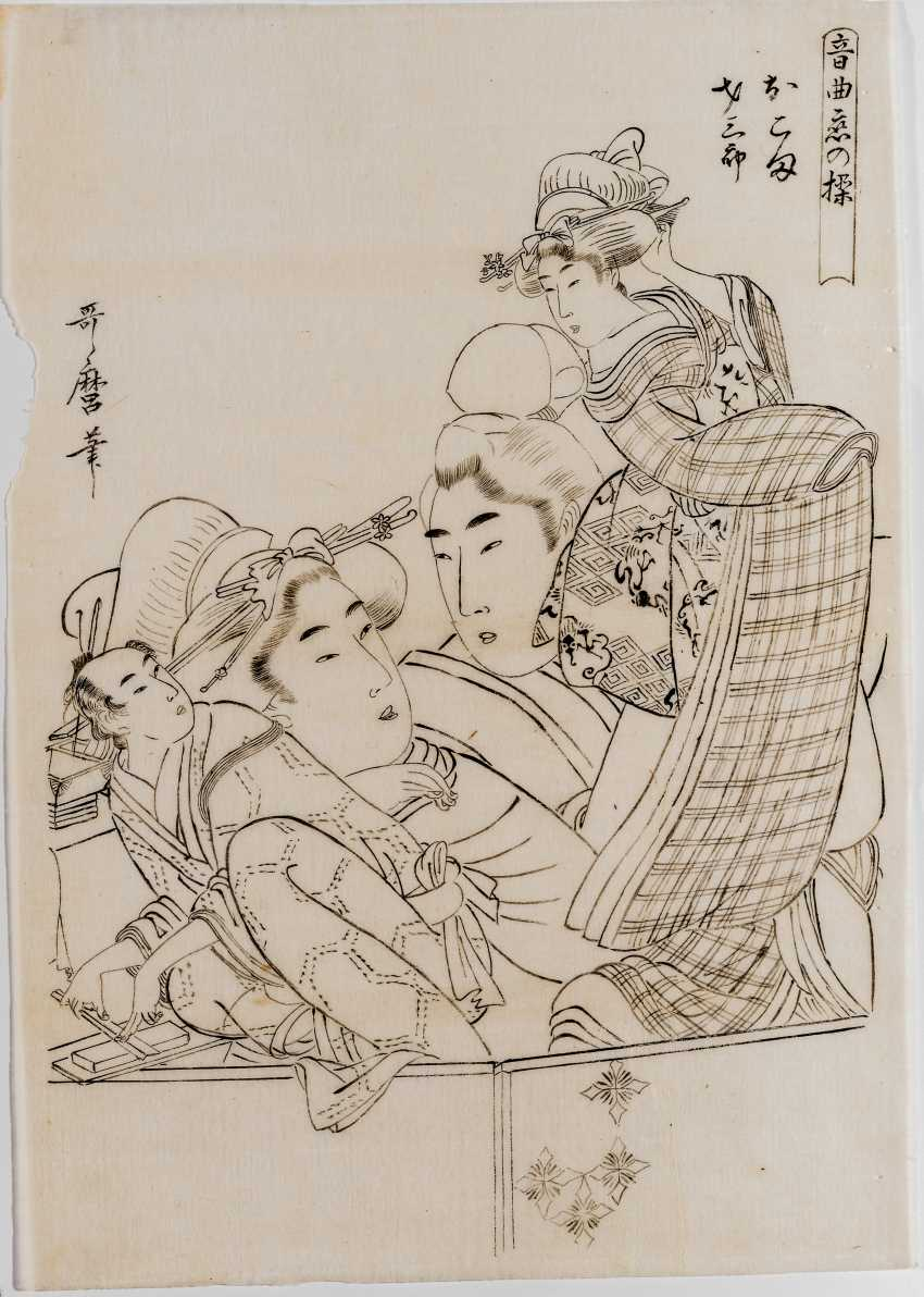 KITAGAWA UTAMARO 喜多川歌麿 (1753 - 1806): OKOMA ACT SAIZABURO - photo 1