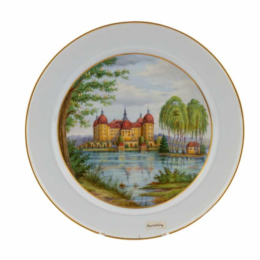 MEISSEN view plate 'castle Moritzburg', Pfeiffer period (1924-34). - photo 1