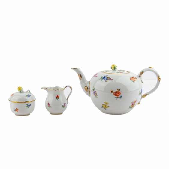 MEISSEN tea set for 6 persons 'scattered flowers', 20. Century - photo 3