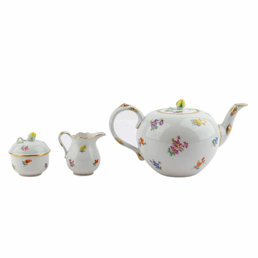 MEISSEN tea set for 6 persons 'scattered flowers', 20. Century - photo 4