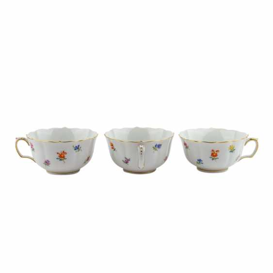 MEISSEN tea set for 6 persons 'scattered flowers', 20. Century - photo 5