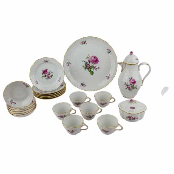 MEISSEN coffee service for 6 persons 'Neumarseille flowers', 20. Century - photo 1